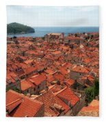 Dubrovnik Old Town Fleece Blanket
