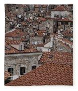 Dubrovnik Rooftops #3 Fleece Blanket
