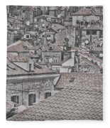 Dubrovnik Rooftops #5 Fleece Blanket