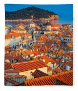Dubrovnik Rooftops Fleece Blanket