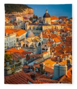 Dubrovnik Sunset Fleece Blanket
