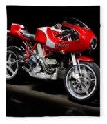 Ducati Mhe Mike Hailwood Evoluzione Fleece Blanket