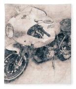 Ducati Paulsmart 1000 Le - 2006 - Motorcycle Poster - Automotive Art Fleece Blanket