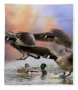Duck Ducks 2 Fleece Blanket