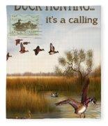 Duck Hunting-jp2783 Fleece Blanket