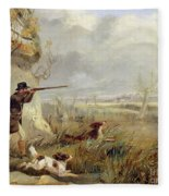Duck Shooting  Fleece Blanket