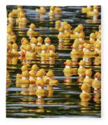 Ducks In A Row Fleece Blanket