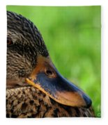 Ducky Up Close And Personal Fleece Blanket