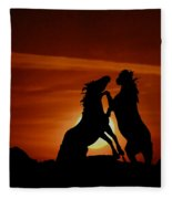 Duel At Sundown Fleece Blanket