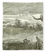 Duel Between Alexander Hamilton And Aaron Burr Fleece Blanket