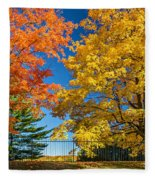 Dueling Maples Fleece Blanket