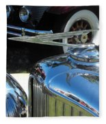 Duesenberg Hood Ornament  Fleece Blanket