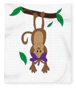Duffworkscreative_monkeyfunlove_hangin Fleece Blanket