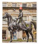 Duke Of Wellington Statue Fleece Blanket