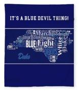 Duke University Fight Song Products Fleece Blanket