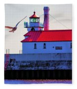 Duluth Lighthouse Fleece Blanket