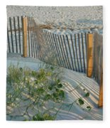 Dune Fence Fleece Blanket