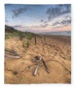 Dune Fencing Down Fleece Blanket