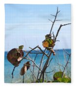 Dune Plants Fleece Blanket
