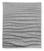 Dune Textures In Monochrome Fleece Blanket