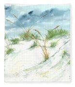 Dunes 3 Seascape Beach Painting Print Fleece Blanket