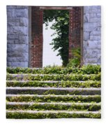 Dungeness Front Steps  Fleece Blanket