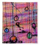 Dunking Ornaments Fleece Blanket