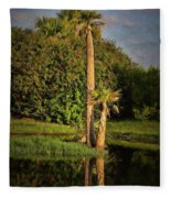 Dunlawton Pond Fleece Blanket