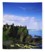 Dunluce Castle, Co Antrim, Irish, 13th Fleece Blanket