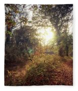Dunmore Wood - Autumnal Morning Fleece Blanket