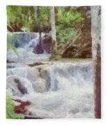 Dunn River Falls Fleece Blanket