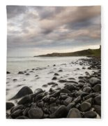 Dunstanburgh Castle Sunset Fleece Blanket