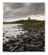 Dunstanburgh Castle Uk Fleece Blanket