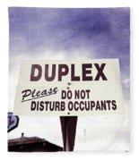 Duplex Yard Sign Stormy Sky Fleece Blanket