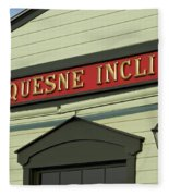 Duquesne Incline Fleece Blanket