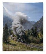 Durango And Silverton Train At Elk Park Wye Fleece Blanket