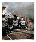 Durango - Silverton Railroad Fleece Blanket
