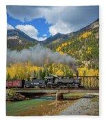 Durango-silverton Twin Bridges Fleece Blanket