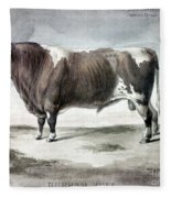 Durham Bull, 1856 Fleece Blanket