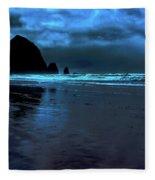 Dusk At Cannon Beach Fleece Blanket