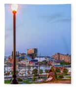 Dusk At Federal Hill Fleece Blanket