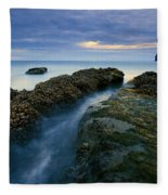 Dusk At Kiwanda  Fleece Blanket