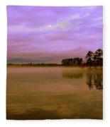 Dusk At Lake Murray Sc Fleece Blanket