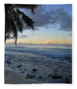 Dusk Beach Fleece Blanket