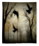 Dusk Begins As The Crows Fly Fleece Blanket