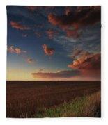 Dusk In The Heartland Fleece Blanket