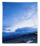 Dusk On Mount Evans Fleece Blanket