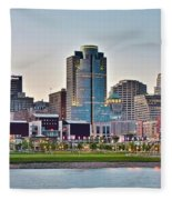 Dusk Pano In Cincinnati Fleece Blanket