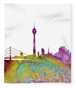 Dusseldorf Skyline 3 Fleece Blanket