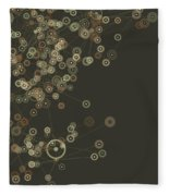 Dust Digital Branch Pattern Fleece Blanket